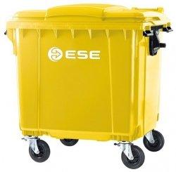 Pojemnik na odpady bytowe MGB 1100 FL ( żółty )