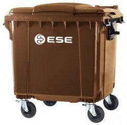 Pojemnik na odpady bytowe MGB 1100 FL ( brąz )