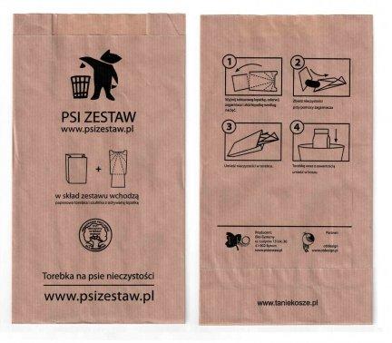 !PROMOCJA Papierowe torebki na Psie odchody ( psiZestaw.pl ) - 100 szt.