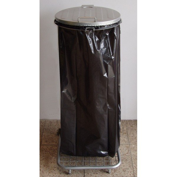 Stojak do worków na śmieci na 4 kołach W3Mp