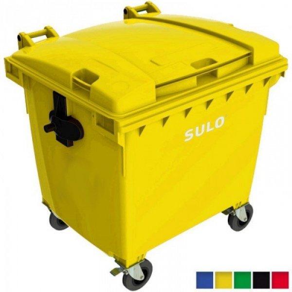 Pojemnik na odpady 1100l Brąz