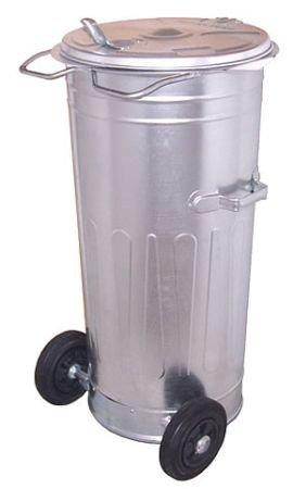 Metalowy pojemnik SM 110 litrów ( na kołach )