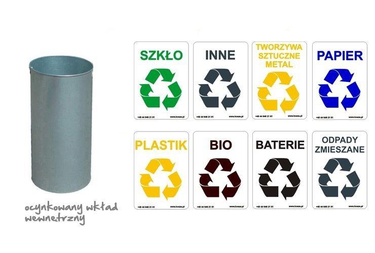 Potrójny pojemnik do segregacji odpadów  C-50/S