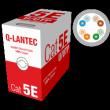 Skrętka U/UTP drut 4x2 kat.5e PVC Q-LANTEC 10 lat gwarancji producenta