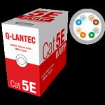 Skrętka U/UTP drut 4x2 kat.5e PVC Q-LANTEC 5 lat gwarancji producenta