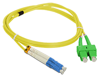 Patch cord SC/APC-LC/UPC duplex SM 2.0m