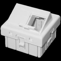 Adapter podwójny 45x45 kątowy z klapkami przeciwkurzowymi