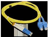 Patch cord LC/UPC-SC/UPC duplex SM 5.0m