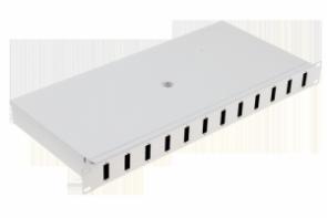 Panel / Przełącznica 12xSC duplex  19 1U  (dławiki,tacka spawów)