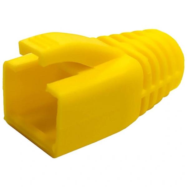 Osłonki wtyku RJ45 żółte na kabel kat.6, 6A, 7  10szt.
