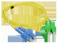 Patchcord SC/APC-SC/UPC duplex SM 5m