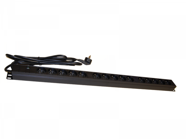 Listwa zasilająca 15 gniazd pionowa