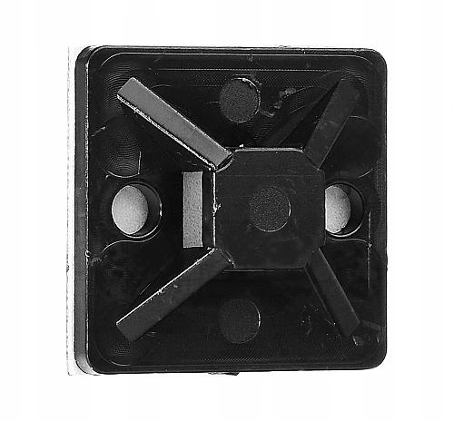 Uchwyt opaski zaciskowej 30x30mm czarny 100szt.