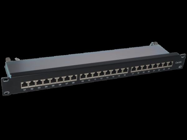 Patch panel STP kat.6A 24 porty LSA 1U