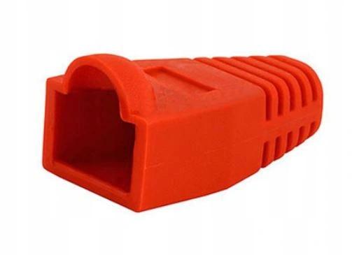 Osłonki wtyku RJ45 czerwona zewnętrzna