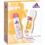 Adidas 6 in 1 Deodorant Spray 150 ml + Adidas Soft Honey Shower Cream 250 ml