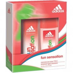 Adidas Fun Sensation Perfumed Deo Spray 150 ml + Deodorant Body Fragrance 75 ml