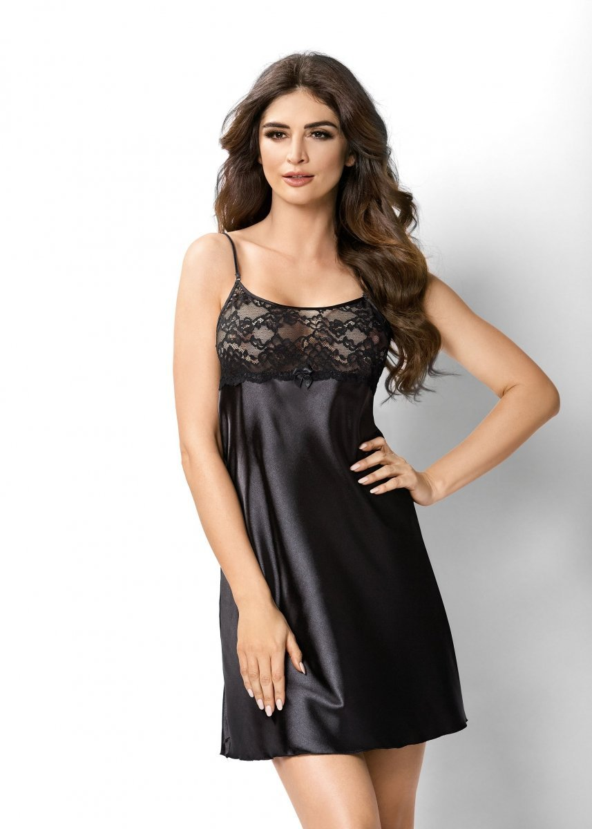 b23264fd0f9e9b Koszula nocna Iris czarna Donna WYSYŁKA 24H - Sexy koszulki i ...