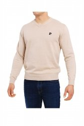 Sweter V-Logo beżowy Pierre Cardin WYSYŁKA 24H