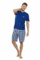 Piżama męska Henderson Trip 35711-59X Granatowo-niebieska