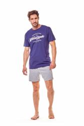 Piżama męska Henderson Fine 36200-59X Granatowo-szara