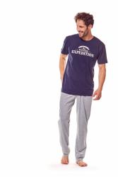 Piżama męska Henderson Fiord 36206-59X Granatowo-szara