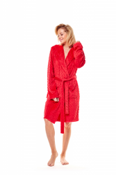Szlafrok damski Henderson Mimi 36162-33X Czerwony