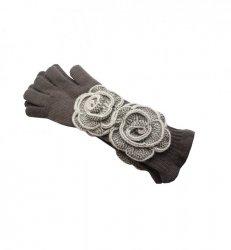 Rękawiczki Kamea Larissa Brązowe