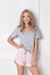 Piżama damska Aruelle Q Short Szaro-różowa