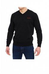 Sweter V-Napis czarny Pierre Cardin WYSYŁKA 24H