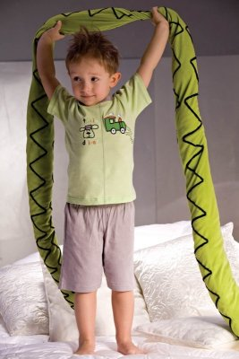 Piżamka chłopięca Piccolo Meva Samuel 2973 szaro-zielona