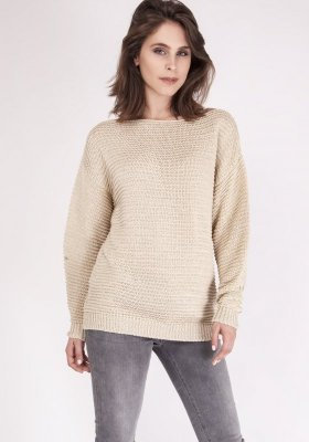 Sweter damski MKM Beatrix SWE 097 Beżowy