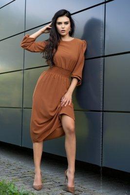 Sukienka damska Merribel Bouquetina Camel