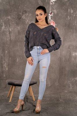 Sweter damski Merribel Gloris Graphite