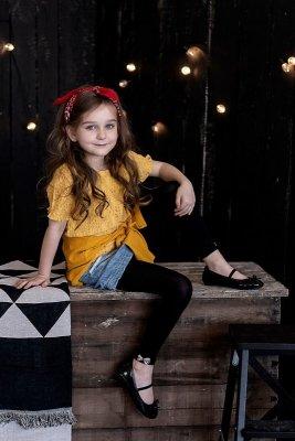 Legginsy dziewczęce Knittex Elena 3D