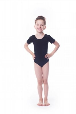 Body gimnastyczne lycra (B1) krótki rękaw Shepa