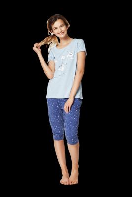 Piżama damska Henderson Ladies Rakel 35255-50X Niebieska