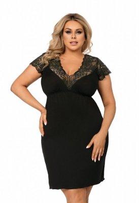 Koszula nocna Size Plus Tess czarna Donna