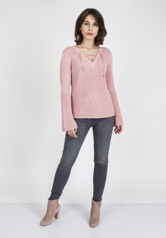 Sweter MKM Kylie SWE 117 Pudrowy róż