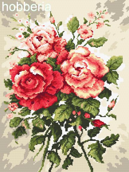 Trzy róże - WZÓR DO POBRANIA