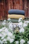Poofi, kocyk Organic & Color, burgund, 80x100cm