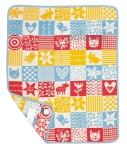 Klippan, pled z bawełny organicznej, quilt, 70x90cm, niebieski