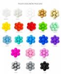 piłeczki do suchego basenu, różne kolory i ilości