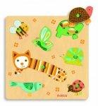 Djeco, puzzle drewniane, kot i przyjaciele