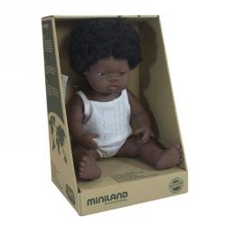 Miniland, lalka dziewczynka, Afrykanka, 38cm
