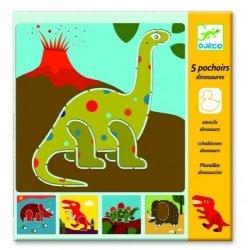 Djeco, szablony do odrysowywania, dinozaury
