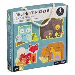Petit collage, pierwsze puzzle, zwierzęta