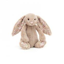 Jellycat, królik beżowy kolorowe uszy 18cm