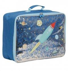 ALLC, walizeczka z tkaniny z brokatem, kosmos