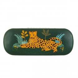 Sassandbell, etui na okulary, leopard